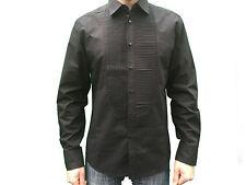 Noir hommes Core Spirit manches longues chemise éLégante Taille S/M/L/XL/XXL