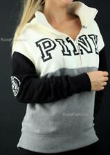 Victoria's Secret PINK Boyfriend Half Zip Mockneck Colorblock Fleece Sweatshirt