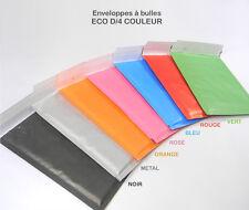 Lot de 50 enveloppes à bulles D/4 COULEUR format 180x260 mm