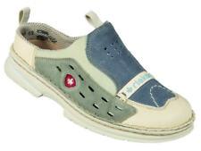 Rieker Sabot Pantoletten Sandalen Leder Schuhe blau 160118 Gr.31-41 Neu8