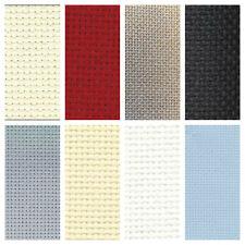 14ct DMC AIDA FABRIC~WHITE, BLACK, RED, ANTIQUE WHITE, GREY, BLUE, ECRU OR GOLD