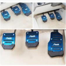 Non Slip Sports Metal Manual Car Vehicle Pedal Foot Treadle Cover Pad Set LI