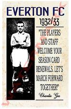 Everton - Vintage Football Poster POSTCARDS - Choose from list