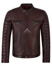 Men's Leather Jacket Cherry Napa Casual Fashion biker Motorcycle style 4232