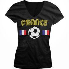 France French National Country Pride La Sélection Soccer Juniors V-neck T-shirt