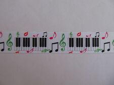 "Grosgrain Piano Music Note Colourful Ribbon 7/8"" 22mm"