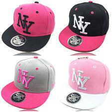 Kinder Cap Snapback Baseball Caps Kappe Baseball Mütze NY rosa pink mädchen