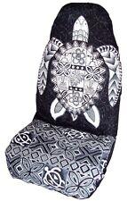 Black Sea Turtle (Honu) Hawaiian Car Seat Cover - Set of 2