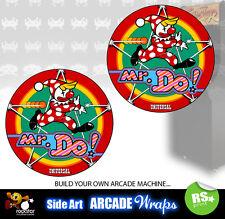 Mr do Arcade Laterales Arte Panel Pegatinas Gráficos/Laminado Todos Los Tamaños Disponibles