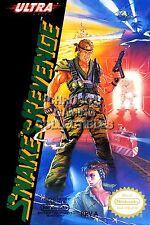 RGC Huge Poster - Snake's Revenge Original Nintendo NES BOX ART - NES051