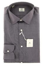New $450 Luigi Borrelli Brown Shirt - Extra Slim - (EV0617760R1)
