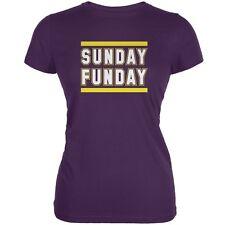 Sunday Funday Minnesota Purple Juniors Soft T-Shirt