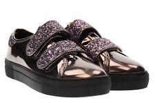 B3d Shoes scarpe donna sneakers piattaforma 41386 PIOMBO SPECCHIATO A17