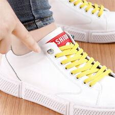 1Pair Unisex Lazy Tie-free Shoelace Stretch Elastic Shoelaces Flat Shoe Laces SZ