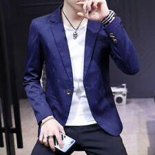 Men Casual Coats Slim Fit One Button Leopard Stripe Korean Youth Jackets Outwear