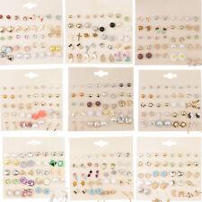 20 Pairs Assorted Animal Ball Flower Stud Earrings Set Pack for Women Girls
