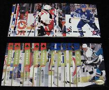 2 PARKHURST INSERT COMPLETE SETS (USA/CANADA GOLD & CHERRY PICKS) 32-CARD SET