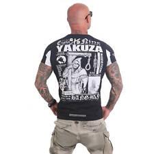 Yakuza T-Shirt Herren Hangman Logo & Motiv Front-/Rücken Print TSB 12005 schwarz