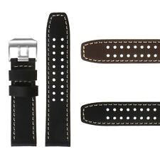 DASSARI 23mm Genuine Leather Replacement Watch Band Strap for Luminox Evo