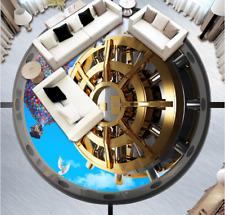 3D Gold gear balloon 253 Floor WallPaper Murals Wall Print Decal 5D AJ WALLPAPER