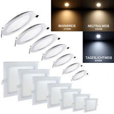 LED Einbaustrahler Deckenleuchte Einbau Leuchte Ultraslim Panel Rund Eckig spot