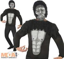 Gorilla Kit Para Hombre Fancy Dress Zoo Selva Animal Halloween Adultos Disfraz + Máscara