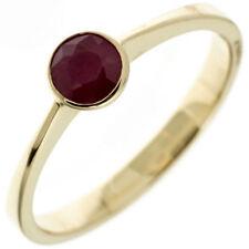 Damen Ring 333 Gold Gelbgold 1 Rubin rot Goldring Rubinring Damenring
