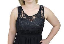 1233 - Vestito abito donna nero elegante cerimonia damigella lungo in pizzo