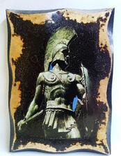 Leonidas I  Ancient Greece Handmade Wood Icon on plaque Golden Leaf 24K