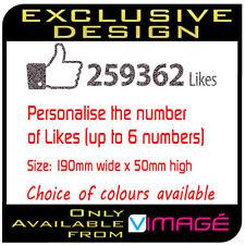 Personalised Funny SPOOF! Facebook like likes vinyl decal sticker window car van