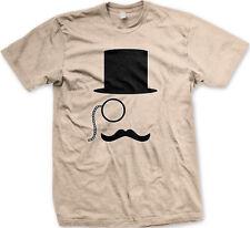 Top Hat Mustache Monocle Meme Feel Sir Hipster Fancy Rich Wealthy Men's T-Shirt