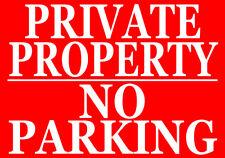 Propiedad privada-no hay aparcamiento metal cartel aviso mantener permanecer fuera Aparcamiento Land Granja