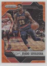 2016 Panini Prizm Orange Wave #79 Thabo Sefolosha Atlanta Hawks Basketball Card