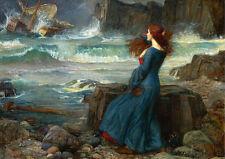 John William Waterhouse the Tempest Vintage Print