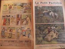 LE PETIT PARISIEN 1909 N 1085 LA CHASSE AUX ELEPHANTS