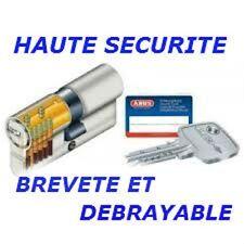 CYLINDRE SERRURE HAUTE SECURITE 30/40 BREVETE DEBRAYABLE ABUS