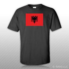 Albanian Flag T-Shirt Tee Shirt Free Sticker Albania ALB AL