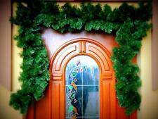 GUIRLANDE DE NOËL ARTIFICIEL guirlande vert Décoration de Noël 300 en plein air