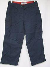 Dean St. Troper Women's Capris Cropped Navy Drawstring Hem Pants Size     zz1