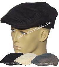 NEUF noir gris lin casquette plate pour Hommes Femmes pays Pointe PRÉFORMÉE