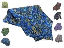 Ascot uomo pura seta vari disegni cashmere multicolor prodotti di alta qualita