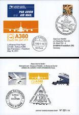 "A380-144 FFC USA à bord ""A380 Lufthansa - 1er Vol San Francisco-Frankfurt"" 2011"