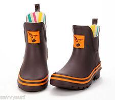 Evercreatures Ladies Ankle Wellies Winter Boots Rubber Festival Wellington Boots