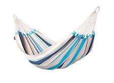 Single-Hängematte CARIBENA aqua blue aus Baumwolle von La Siesta