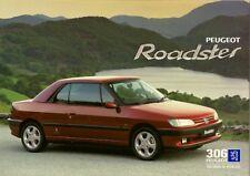 Peugeot 306 Roadster Cabriolet 2.0 1996-97 UK Market Foldout Sales Brochure