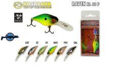 Leurre poisson nageur Raven XL 40F KOSADAKA 40mm 4,3gr pêche perche blackbass