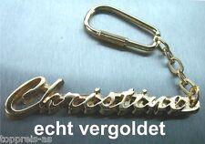 EDLER SCHLÜSSELANHÄNGER CHRISTINE VERGOLDET GOLD NAME KEYCHAIN KEYCHAIN