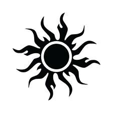 "6"" TRIBAL SUN Vinyl Decal Sticker Car Window Laptop Tropical Hot Tattoo"