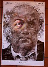 Federico Fellini, Movie Greats -   Polish Poster - Waldemar Swierzy