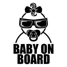 BABY ON BOARD AUFKLEBER Sticker Auto Fahrzeug Kind Mädchen Girl Deko Car